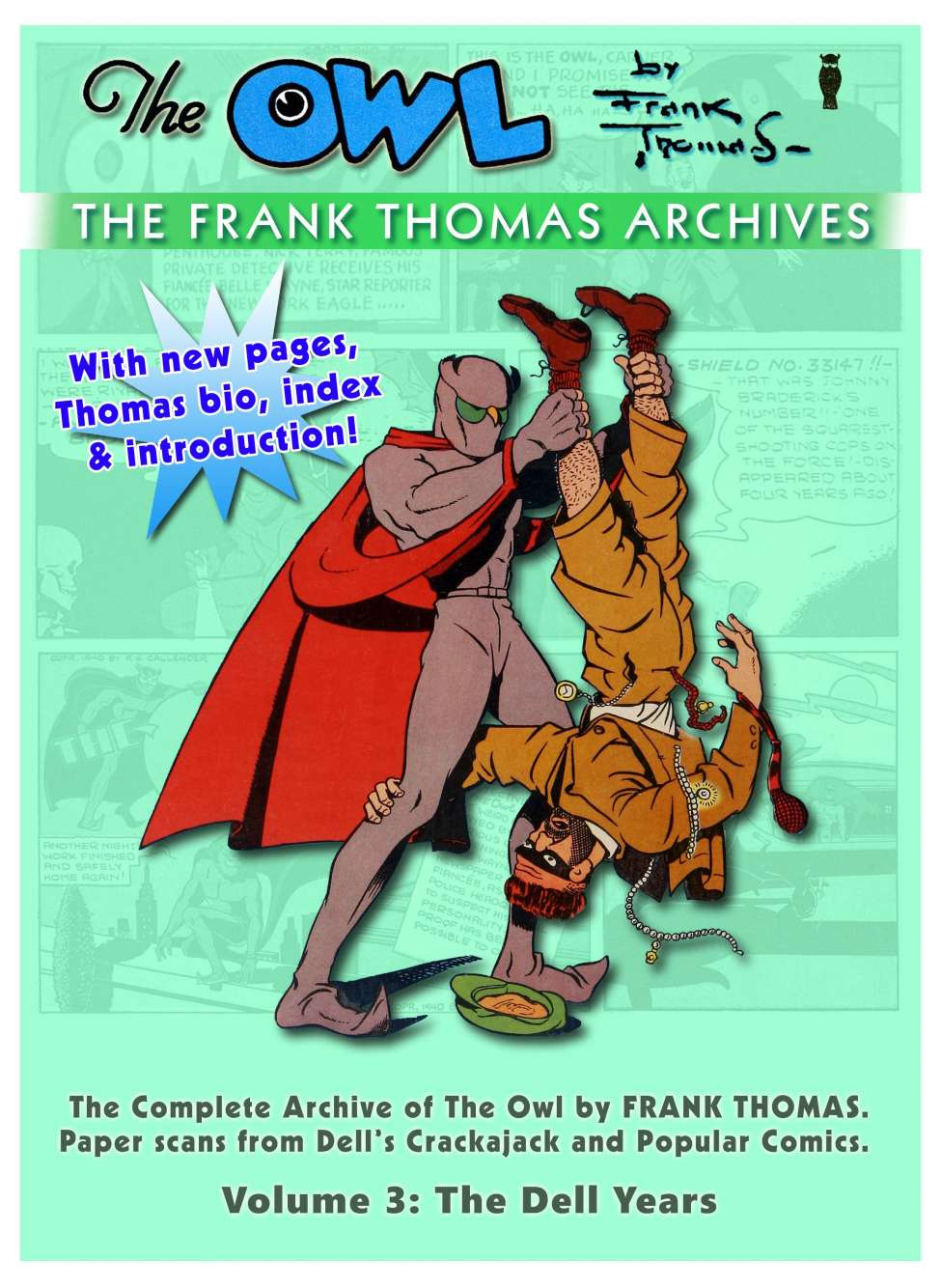 Comic Book Cover For Frank Thomas Archives v3 - The Complete Owl Pt.1 (Dell)