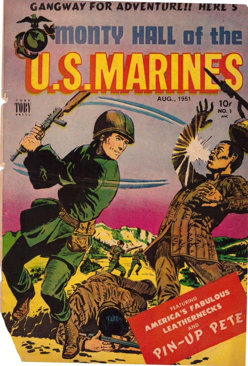 Comic Book Cover For Monty Hall of the U.S. Marines #1