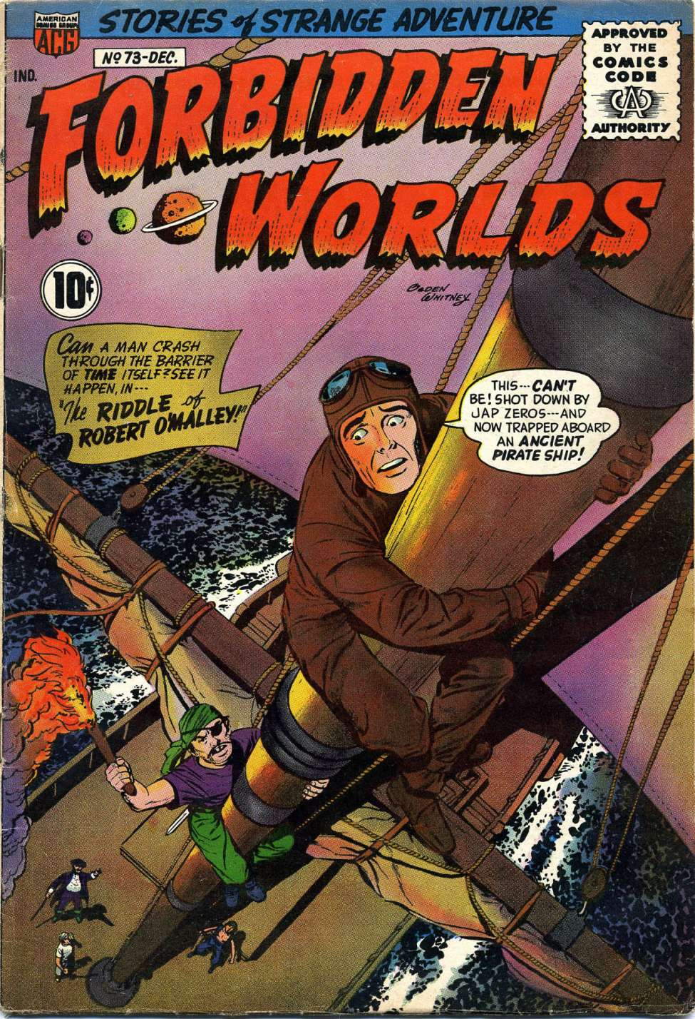 Comic Book Cover For Forbidden Worlds #73