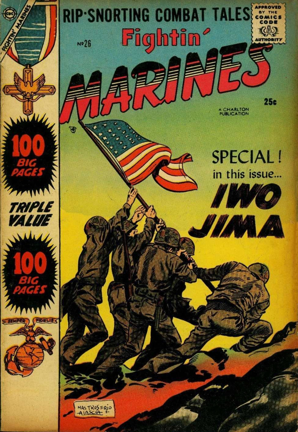 Comic Book Cover For Fightin' Marines #26