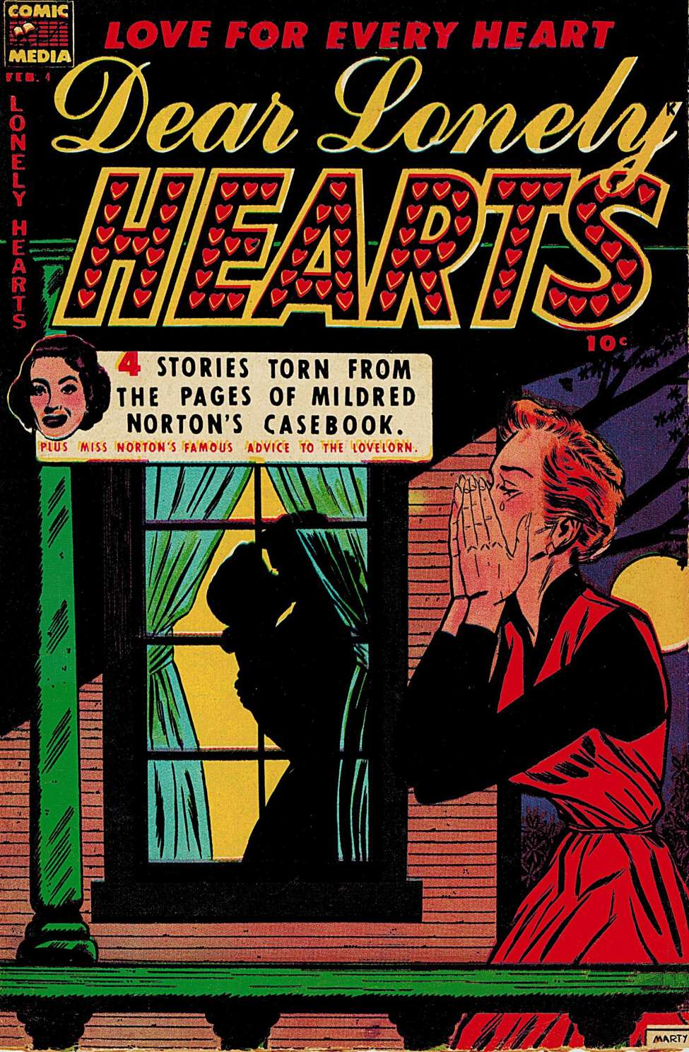 Comic Book Cover For Dear Lonely Hearts #4