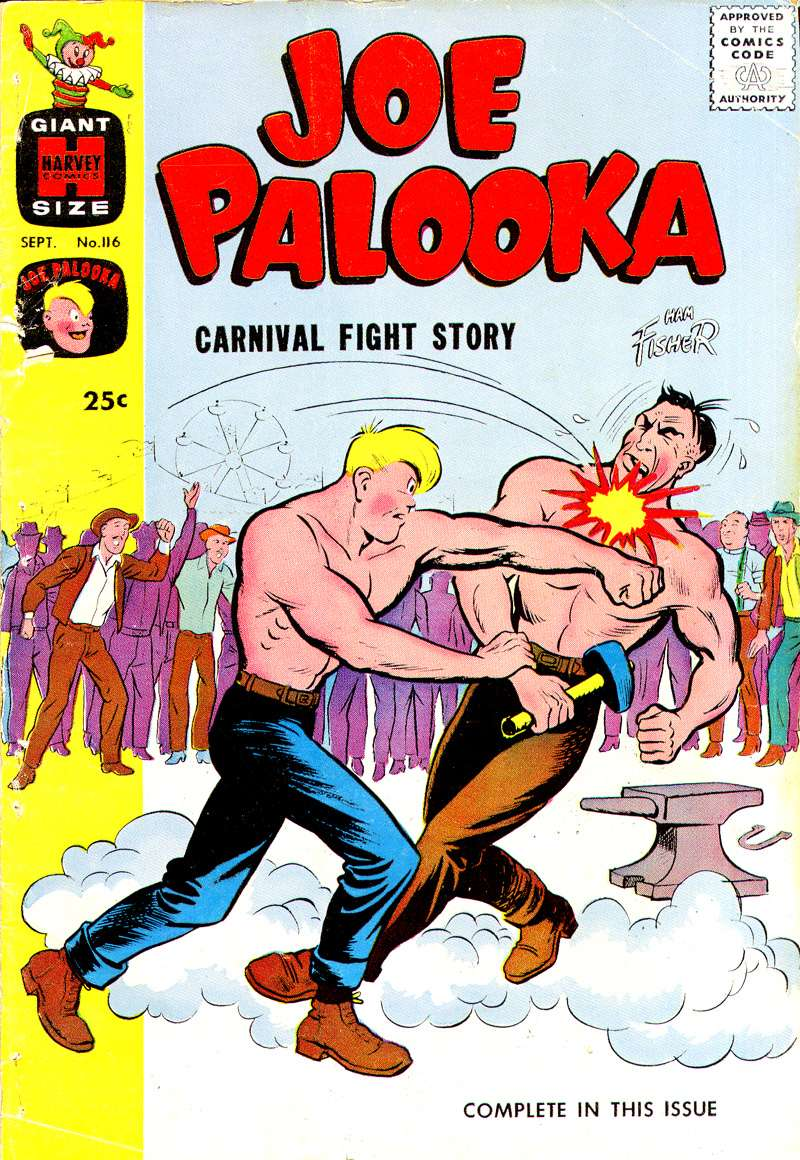 Comic Book Cover For Joe Palooka Comics #116