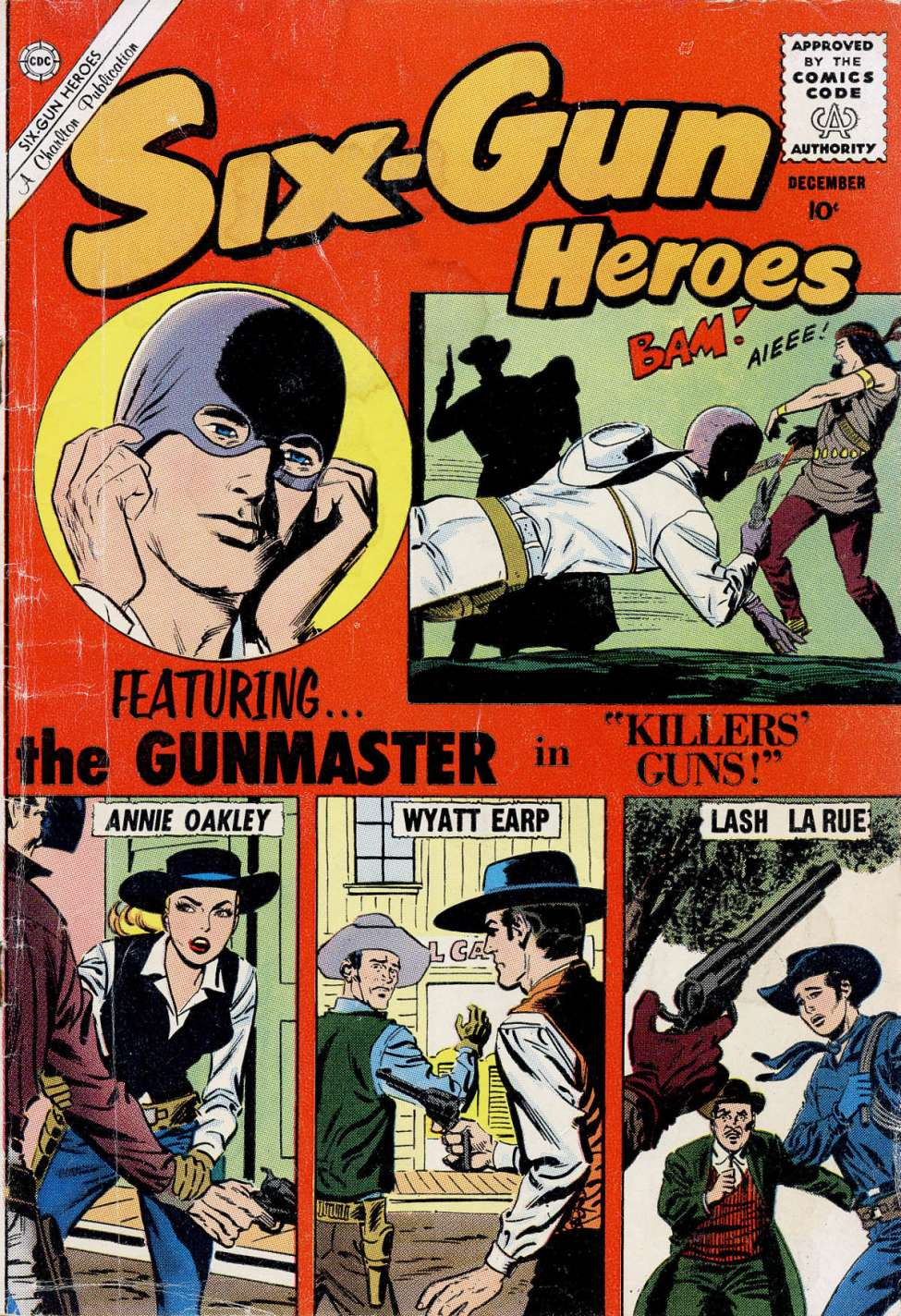 Comic Book Cover For Six-Gun Heroes #60