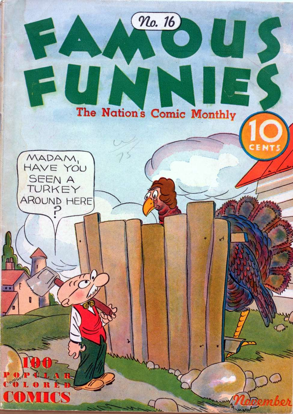 Comic Book Cover For Famous Funnies #16