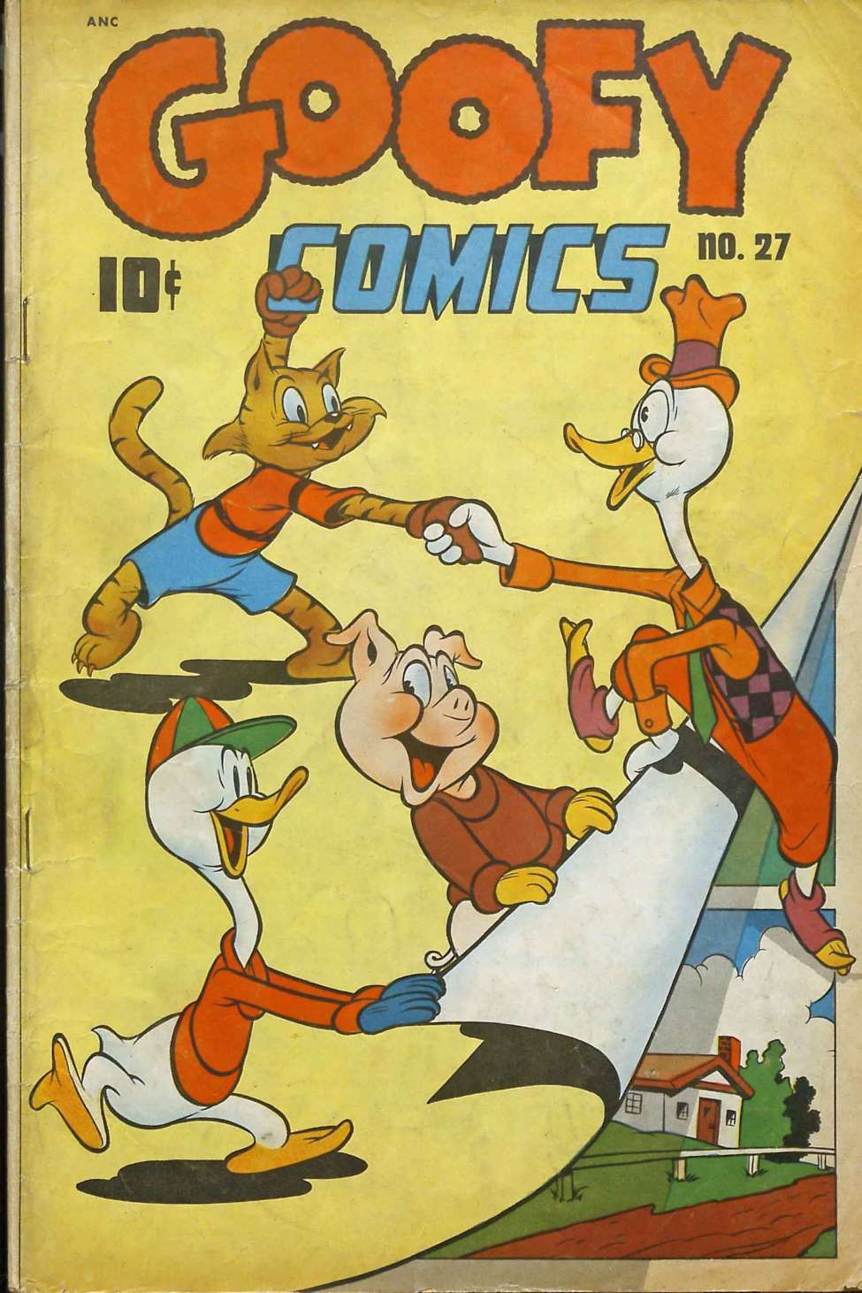 Comic Book Cover For Goofy Comics #27