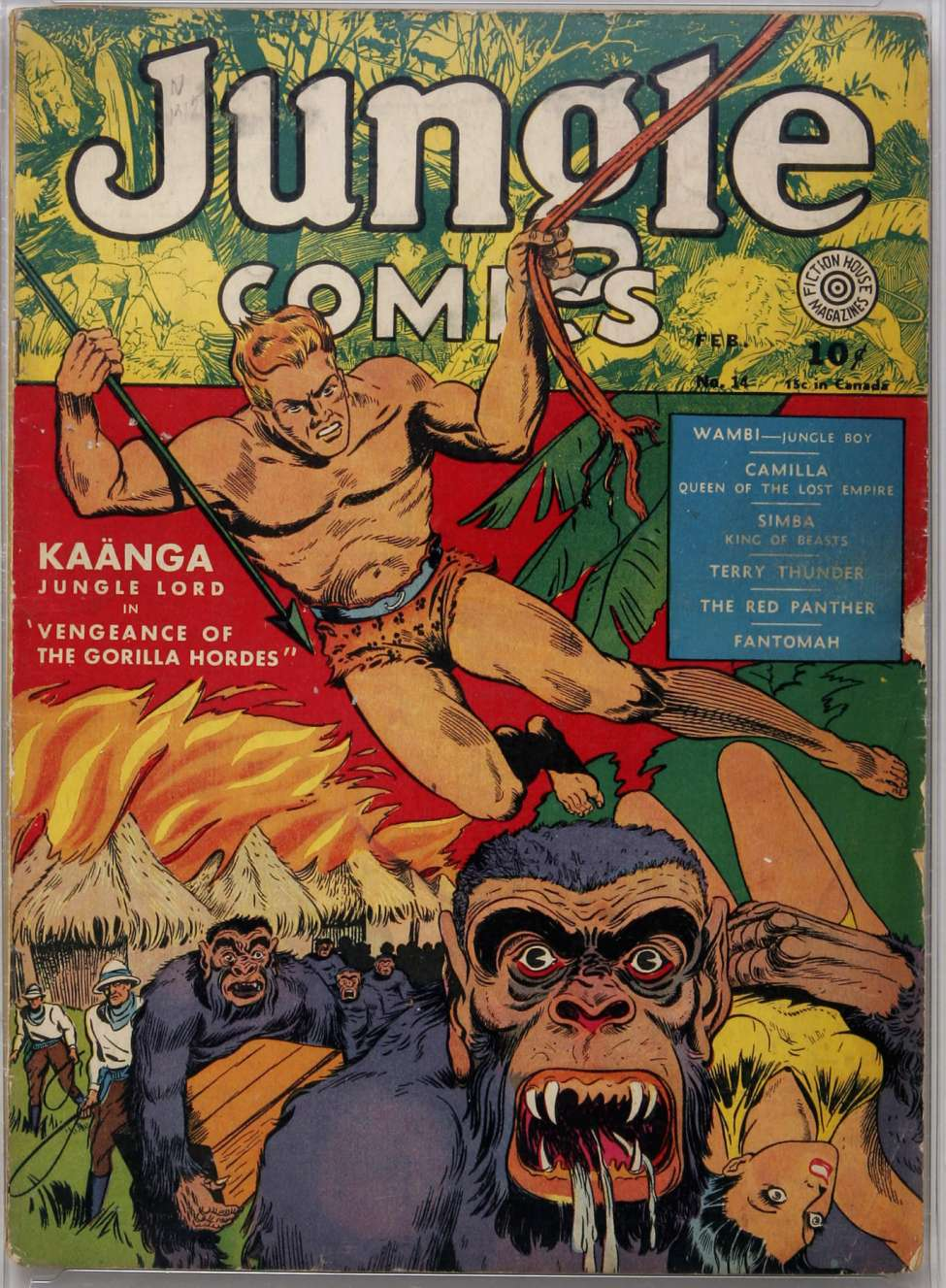 Comic Book Cover For Jungle Comics #14