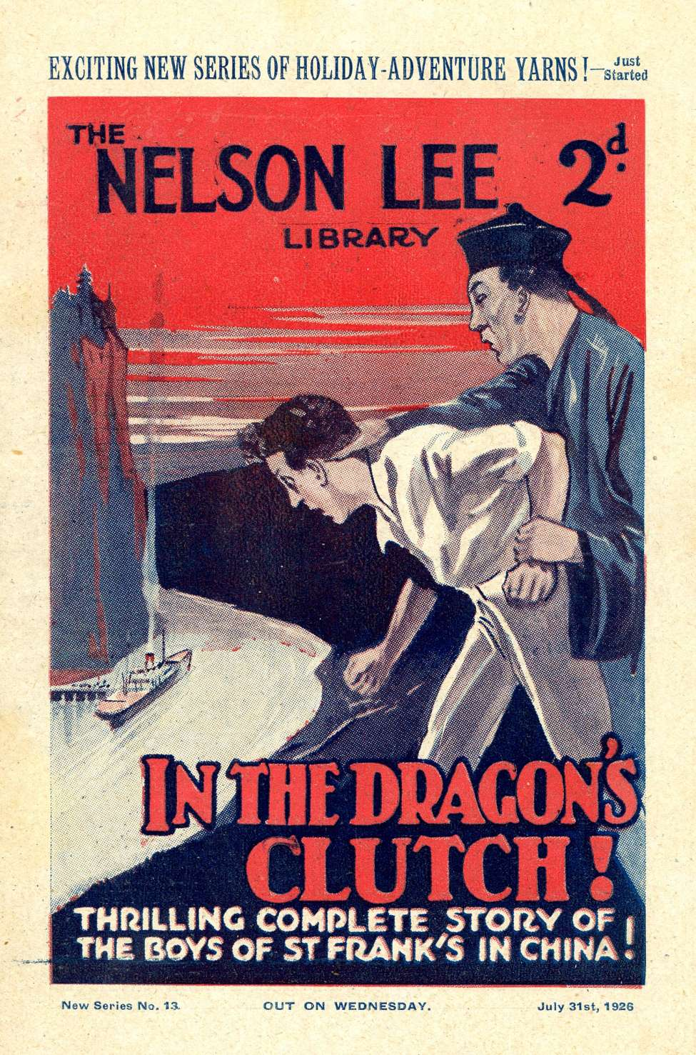 Comic Book Cover For Nelson Lee Library s2 013 - In the Dragon's Clutch