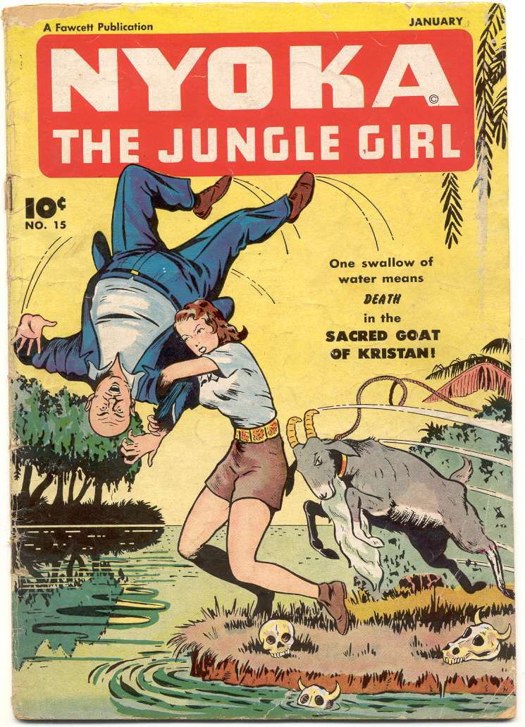 Comic Book Cover For Nyoka the Jungle Girl #15