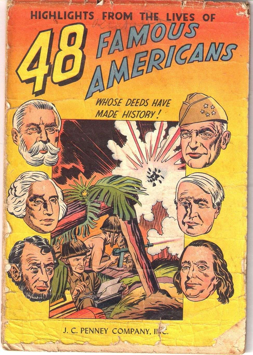 Comic Book Cover For 48 Famous Americans [nn]