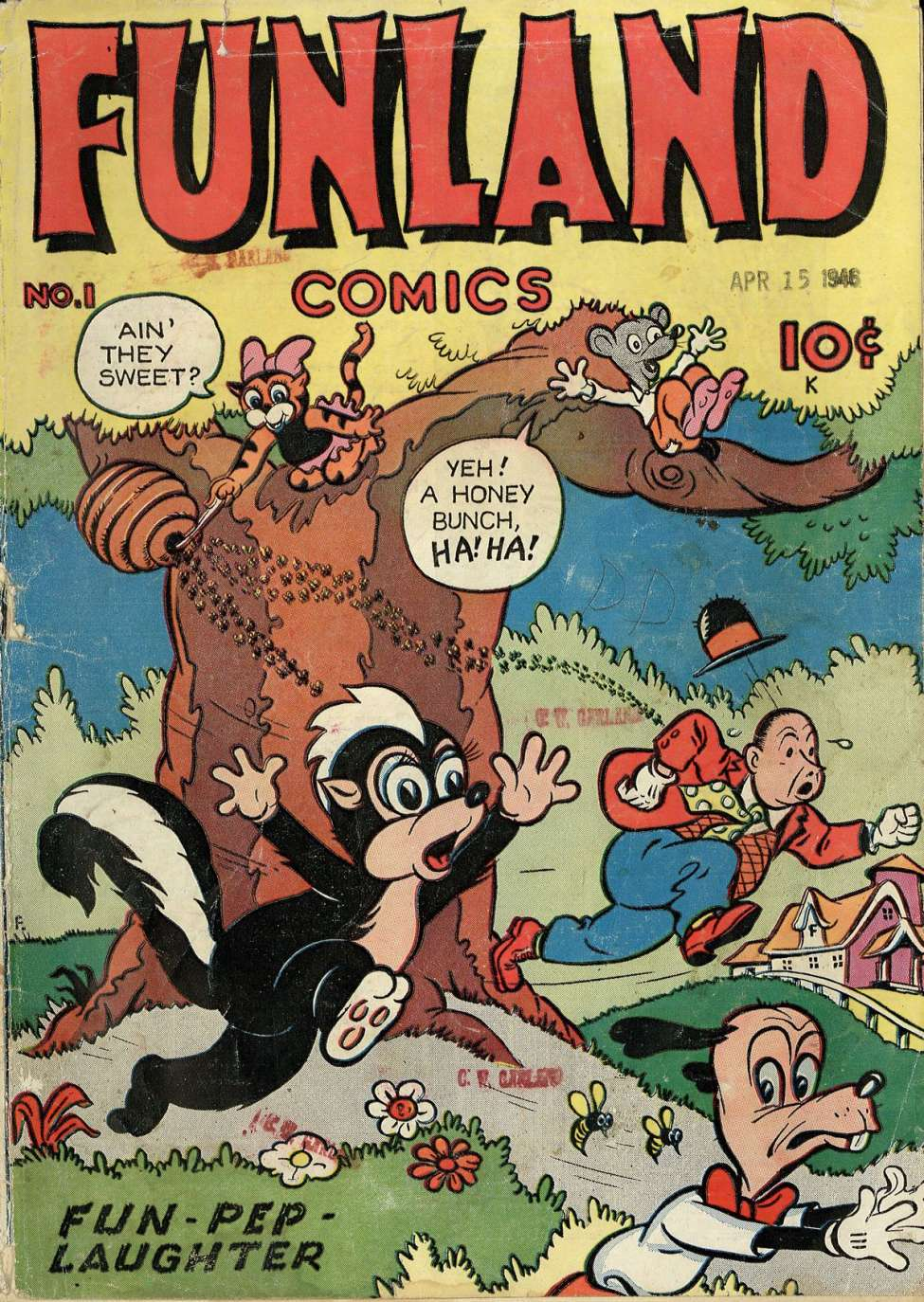 Comic Book Cover For Funland Comics #1