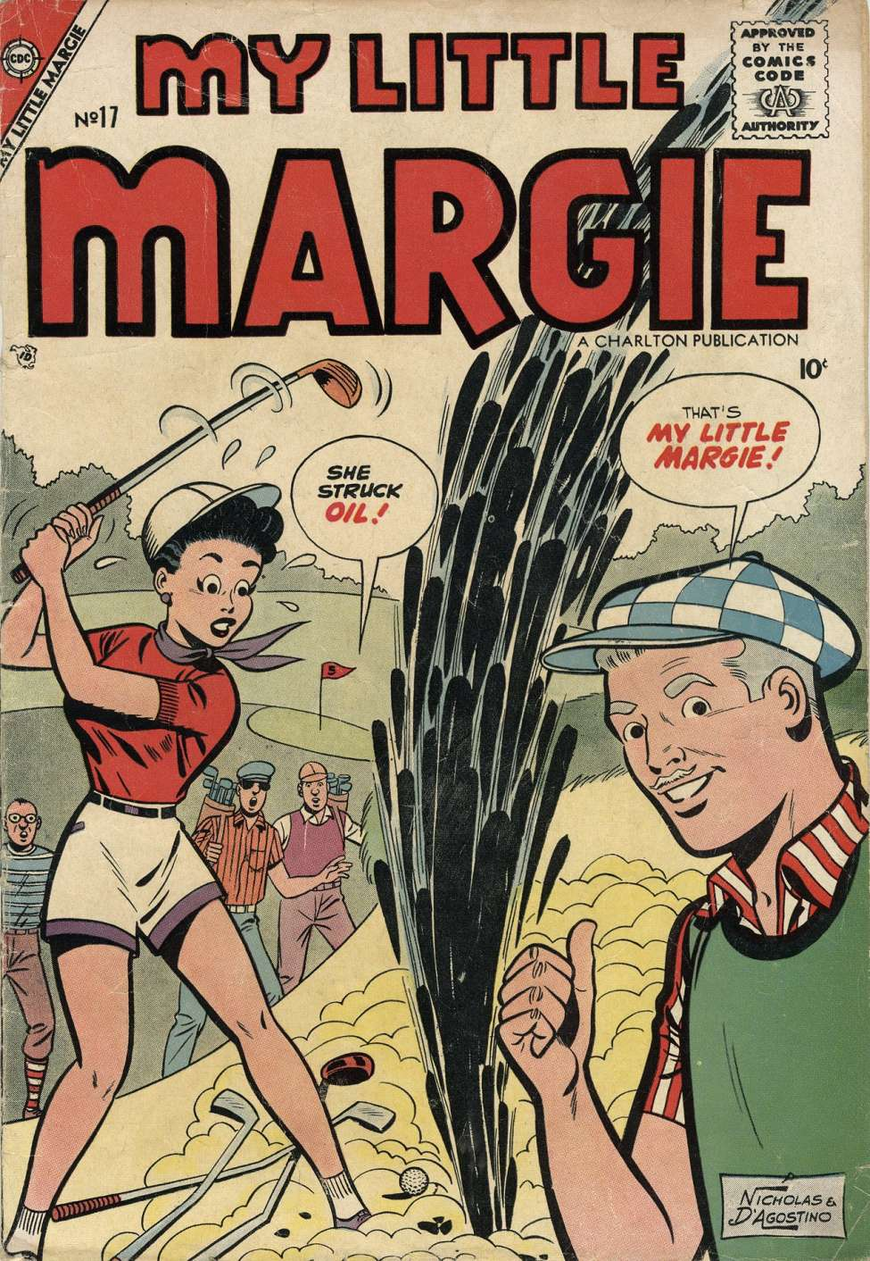 Comic Book Cover For My Little Margie #17