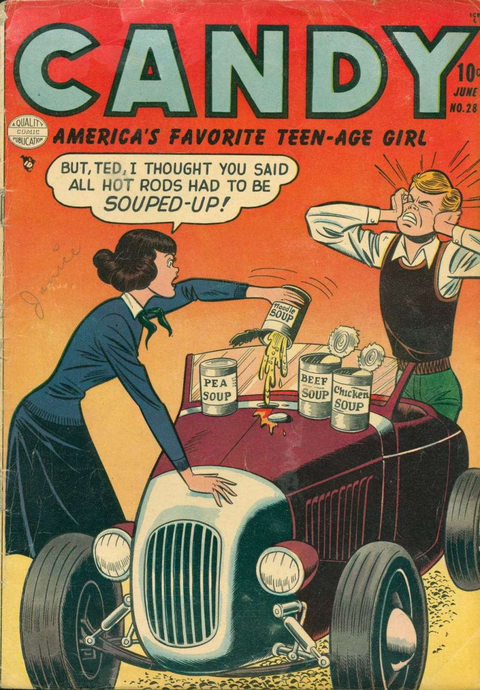 Comic Book Cover For Candy #28
