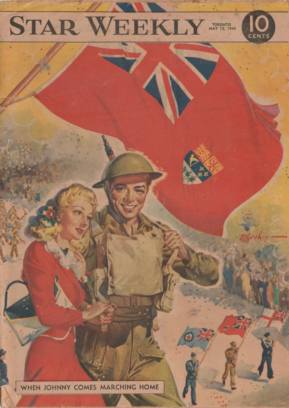 Comic Book Cover For The Star Weekly 1945-05-12