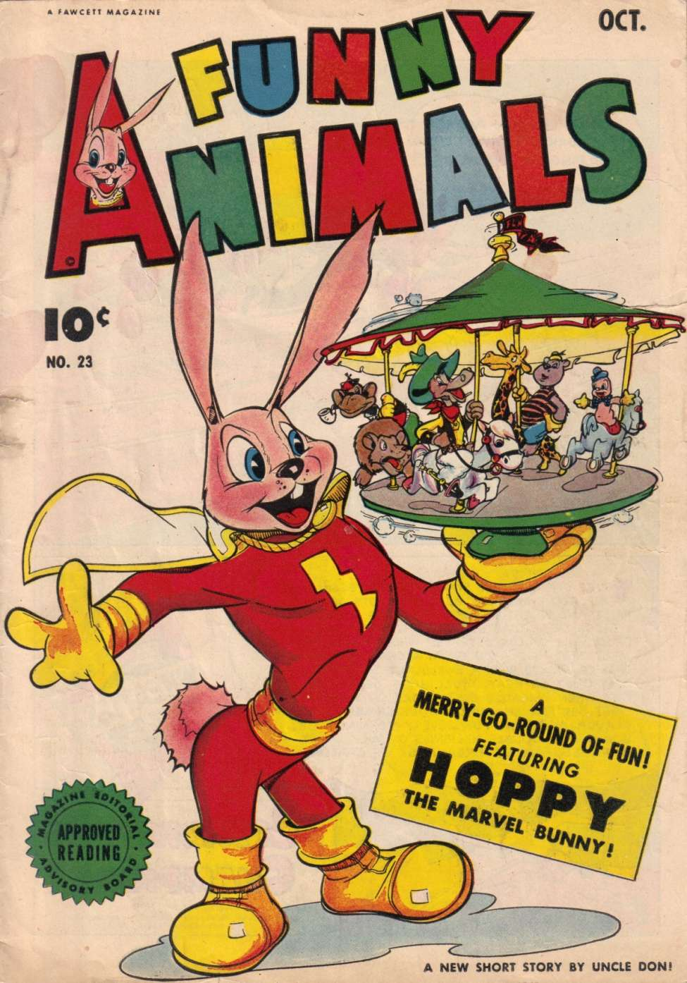 Comic Book Cover For Fawcett's Funny Animals #23 - Version 1