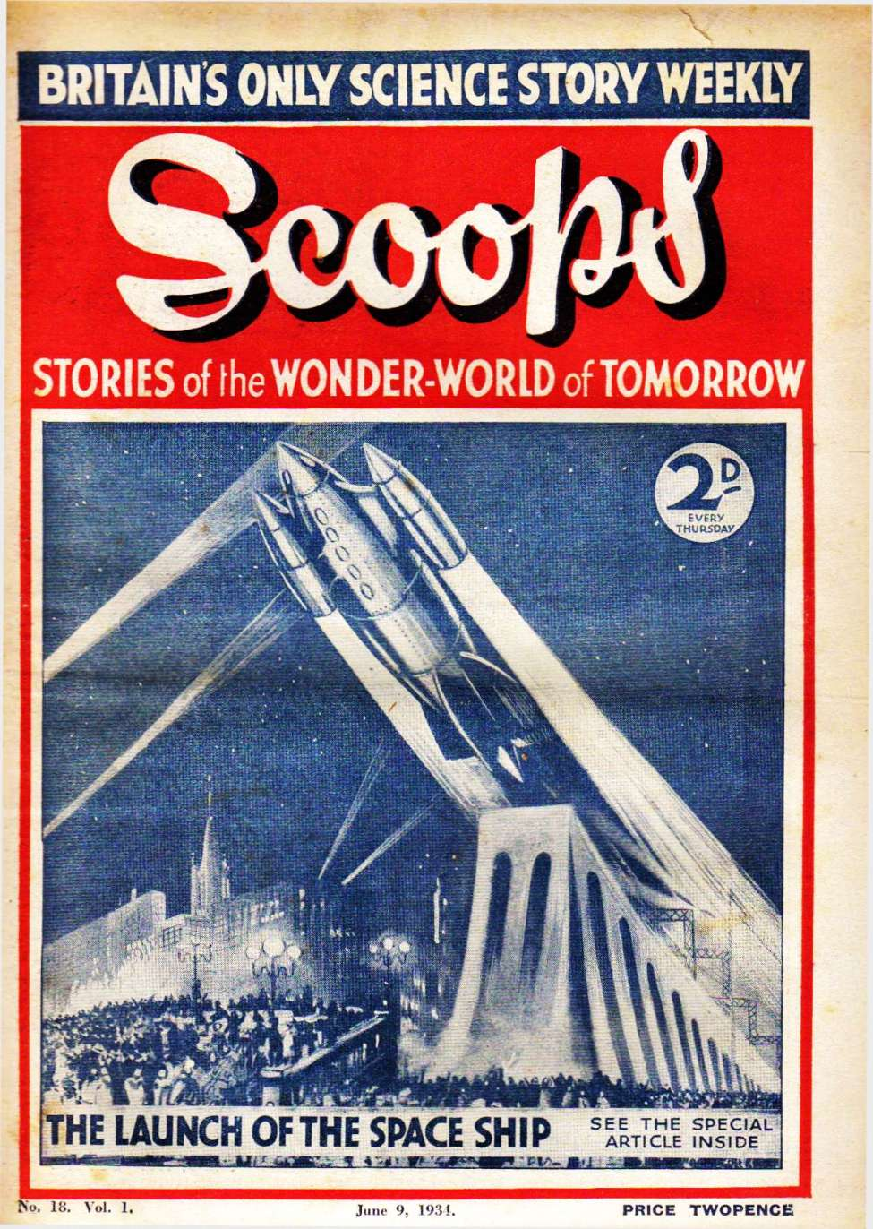 Comic Book Cover For Scoops 18 - The Man Who Made Diamonds