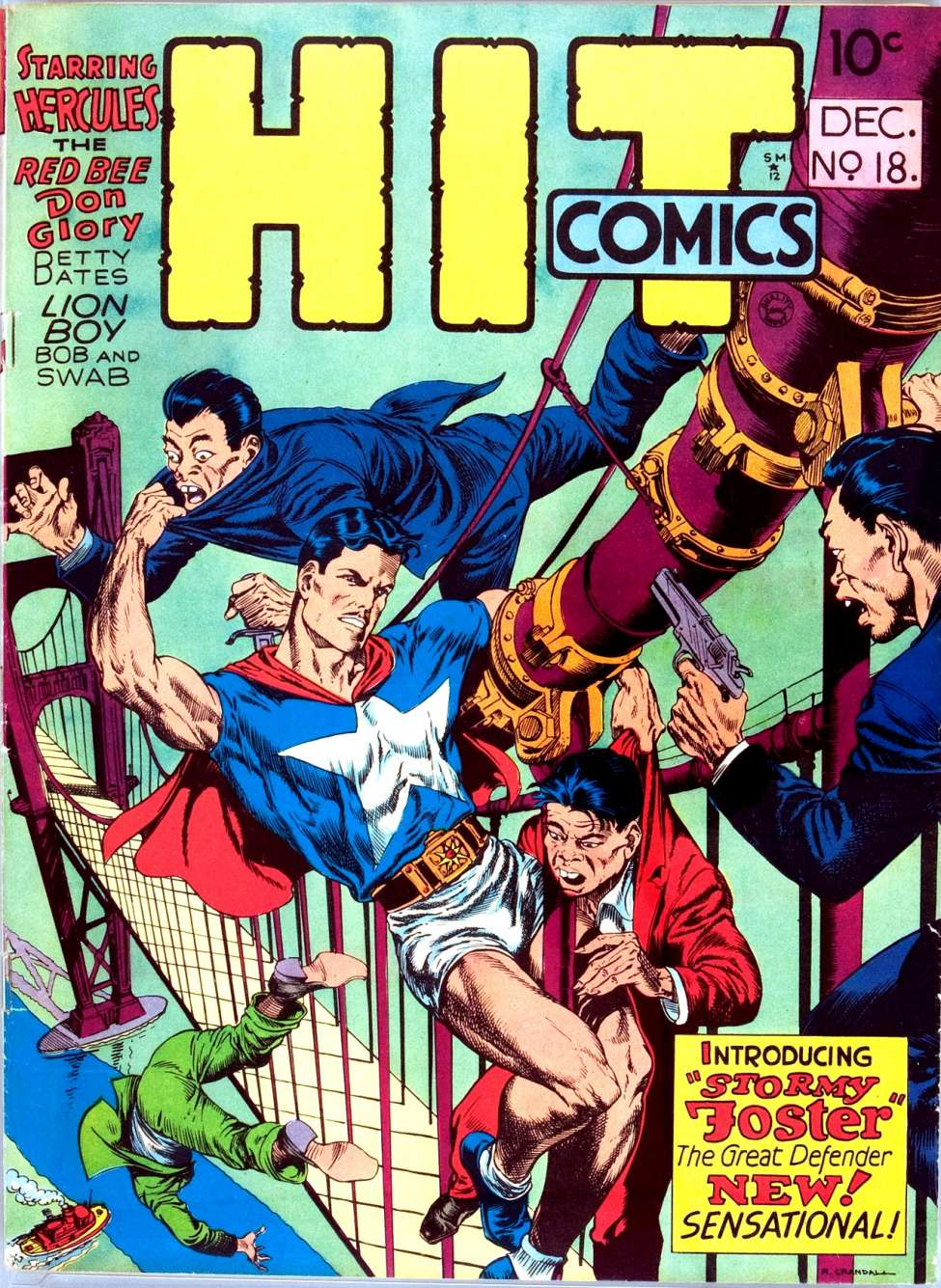 Comic Book Cover For Hit Comics #18