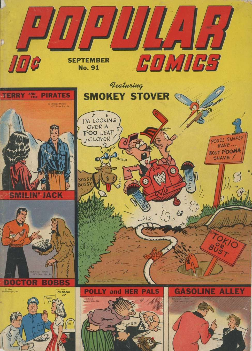 Comic Book Cover For Popular Comics #91