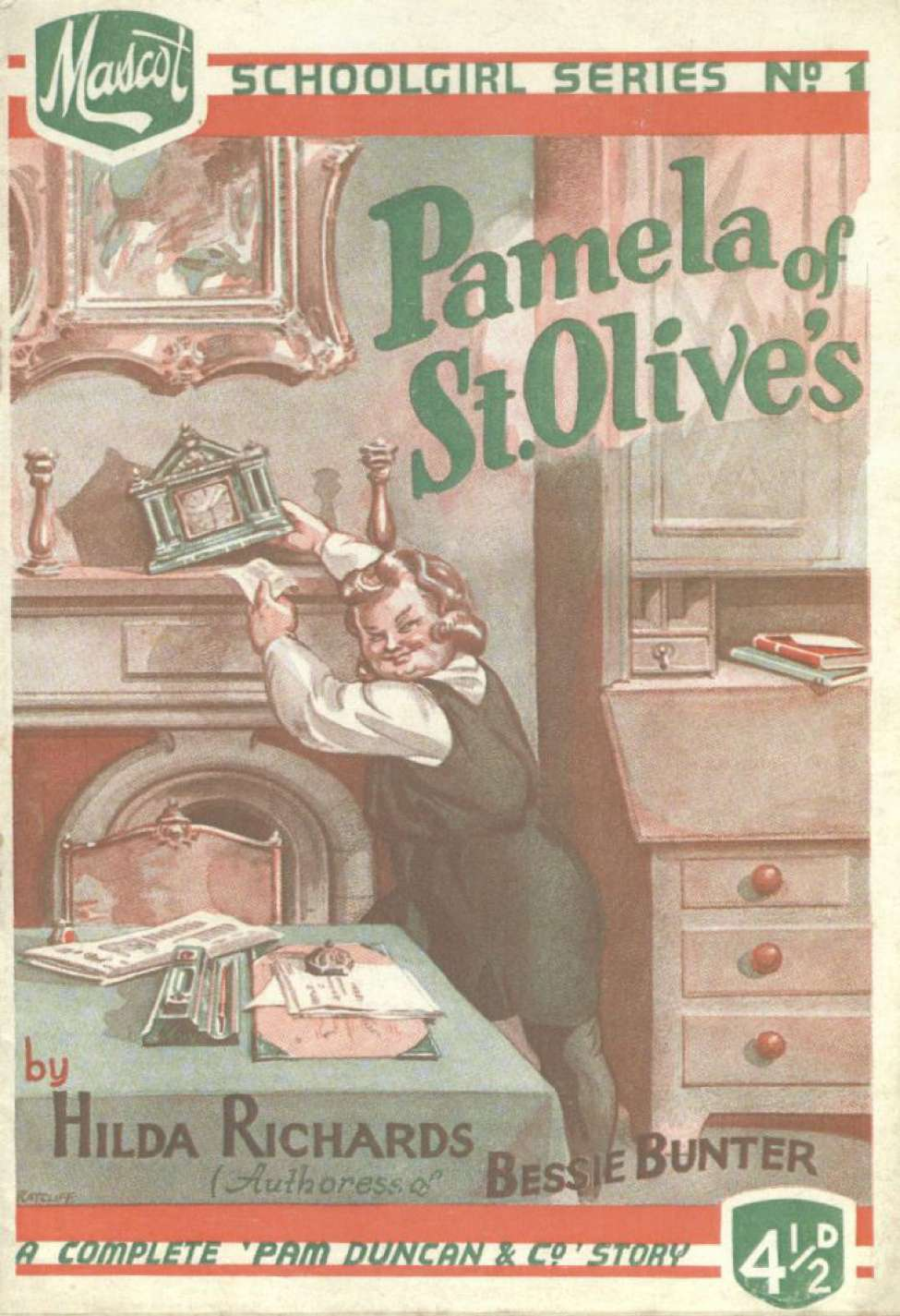 Comic Book Cover For Mascot Schoolgirl Series 01 - Pamela of St. Olives