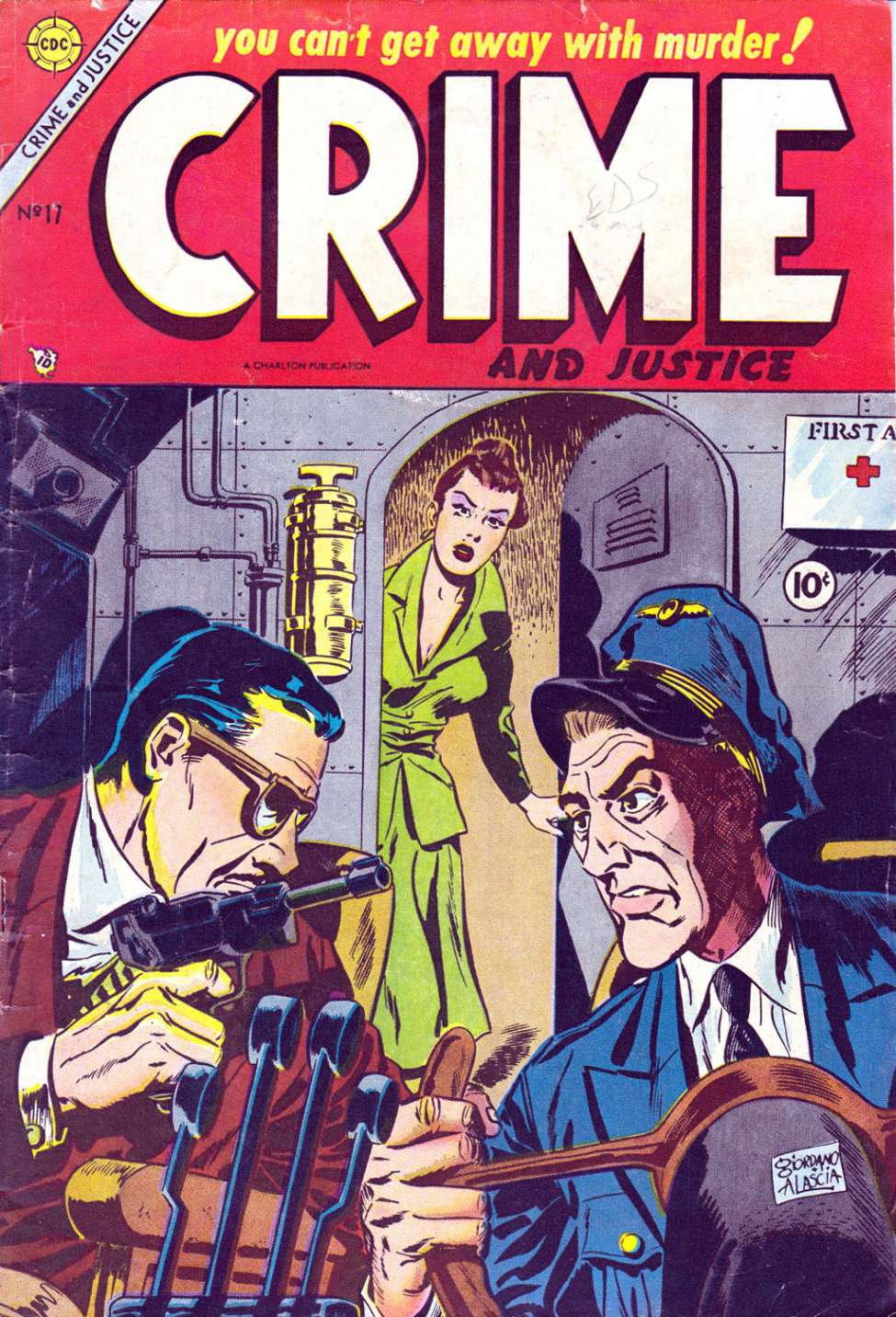 Comic Book Cover For Crime and Justice #17