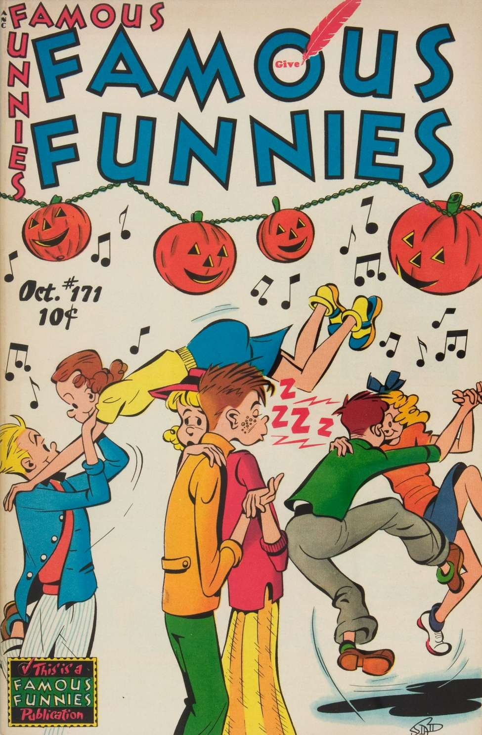 Comic Book Cover For Famous Funnies #171