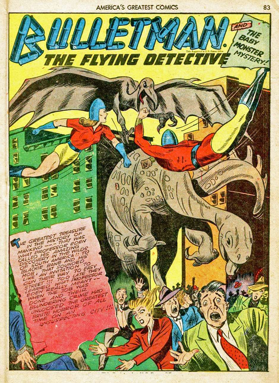 Comic Book Cover For Bulletman Archive Vol 08