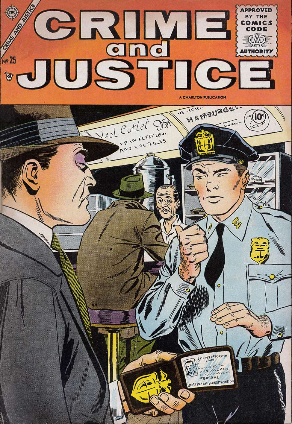 Comic Book Cover For Crime and Justice #25