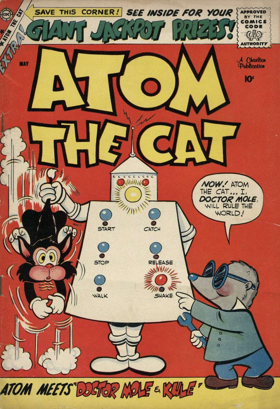 Comic Book Cover For Atom the Cat #16 - Version 2