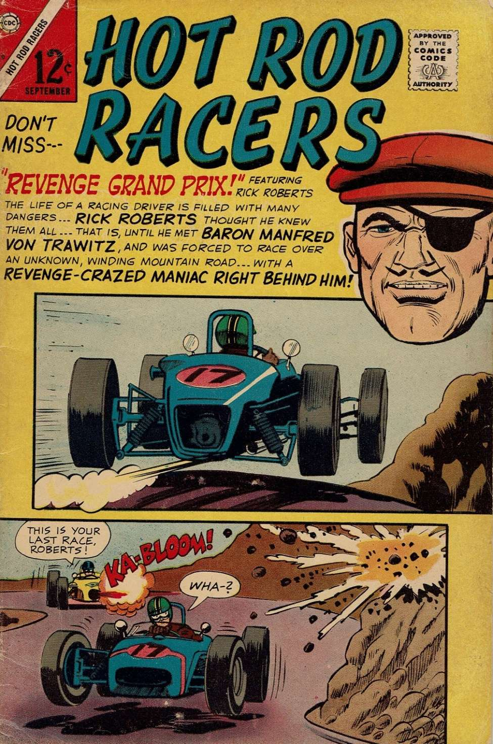 Comic Book Cover For Hot Rod Racers #10