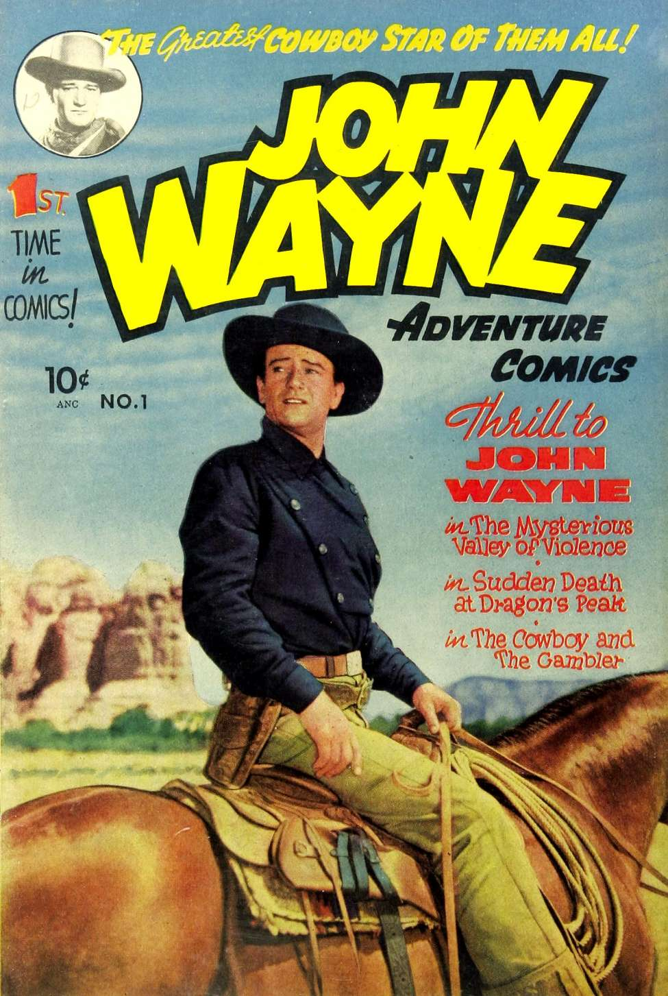 Comic Book Cover For John Wayne Adventure Comics #1