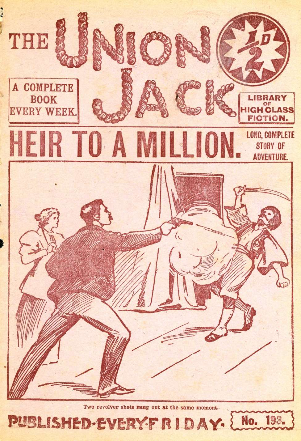 Comic Book Cover For The Union Jack 193 - Heir to a Million
