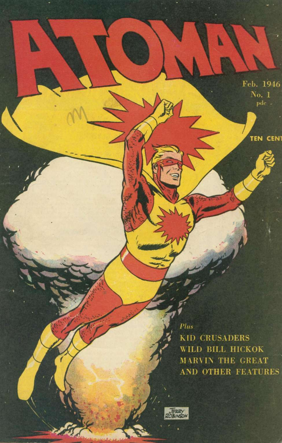 Comic Book Cover For Atoman Comics #1