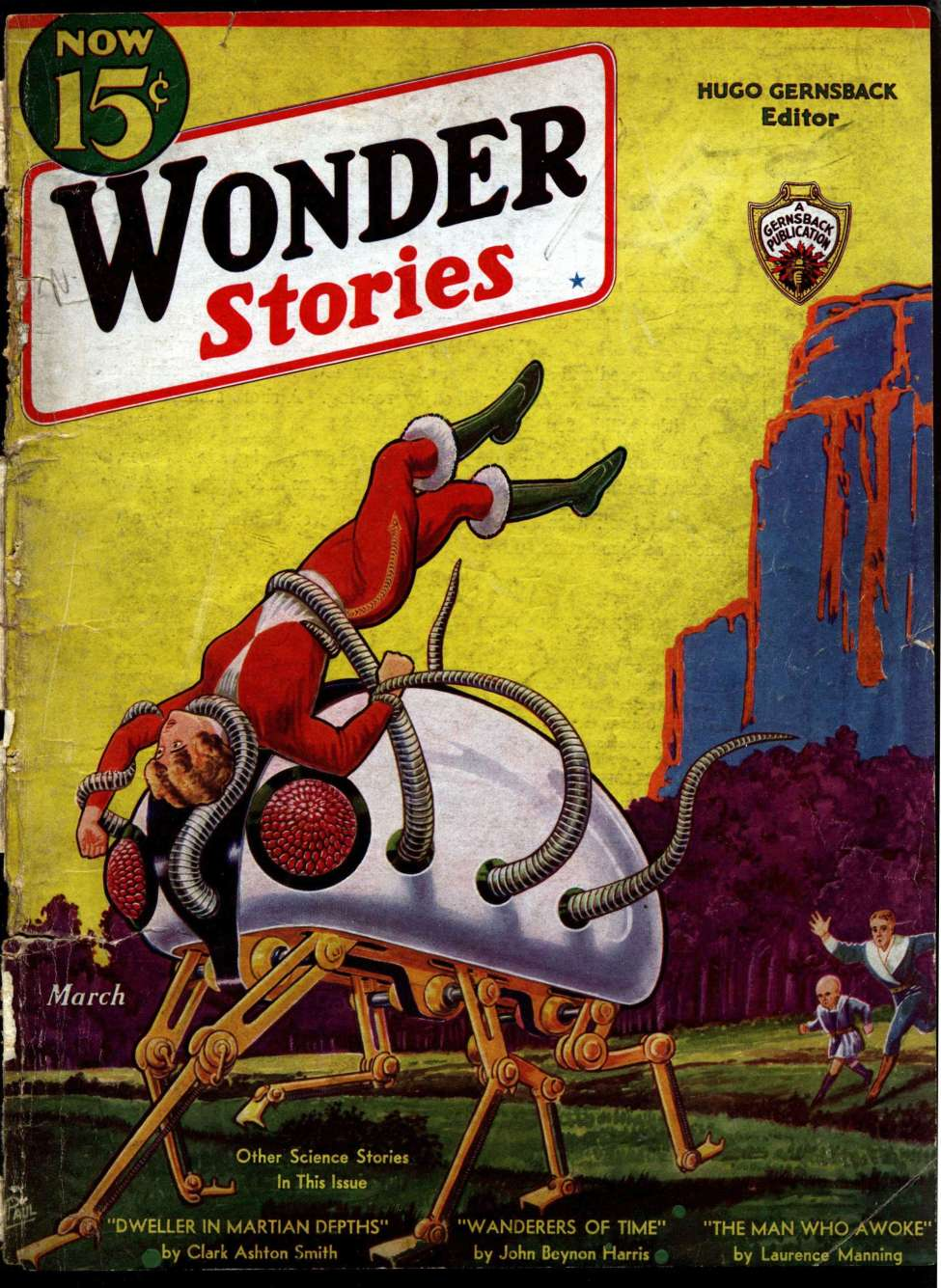 Comic Book Cover For Wonder Stories v4 10 - The Robot Technocrat - Nat Schachner