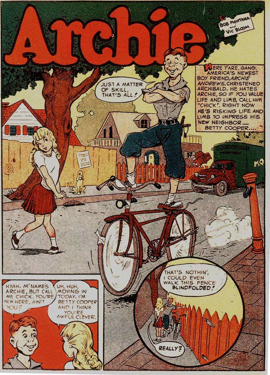 Comic Book Cover For Archie in Pep Comics