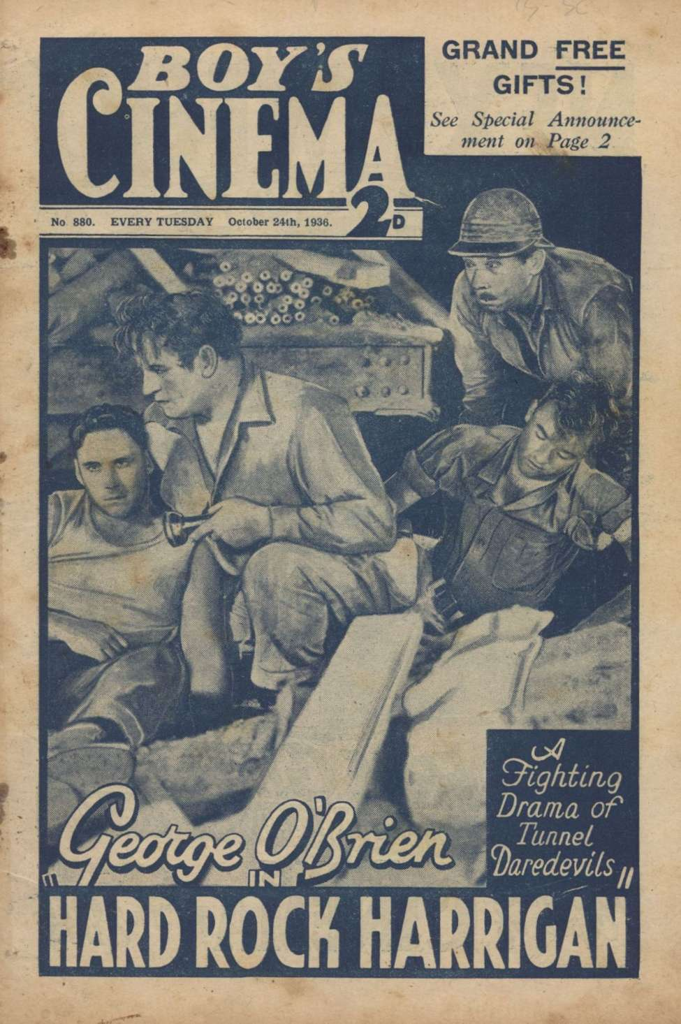 Comic Book Cover For Boy's Cinema 0880 - Hard Rock Harrigan starring George O'Brien