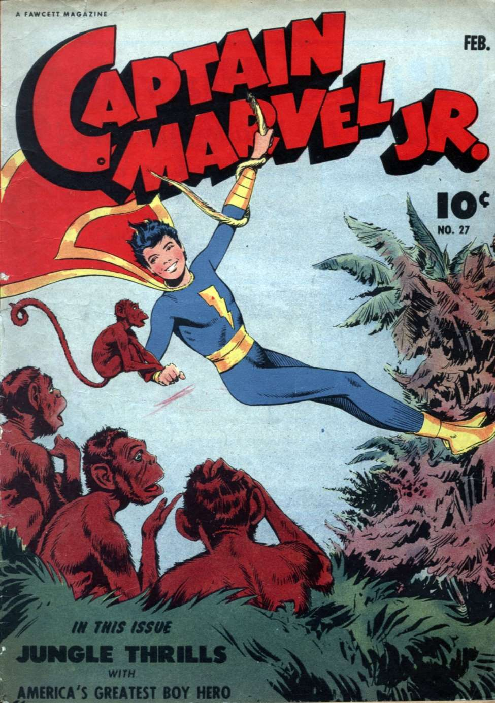Comic Book Cover For Captain Marvel Jr. #27