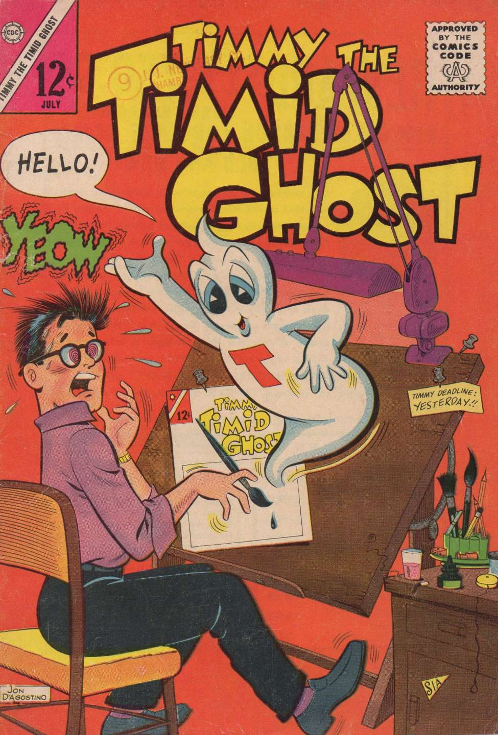Comic Book Cover For Timmy the Timid Ghost #39