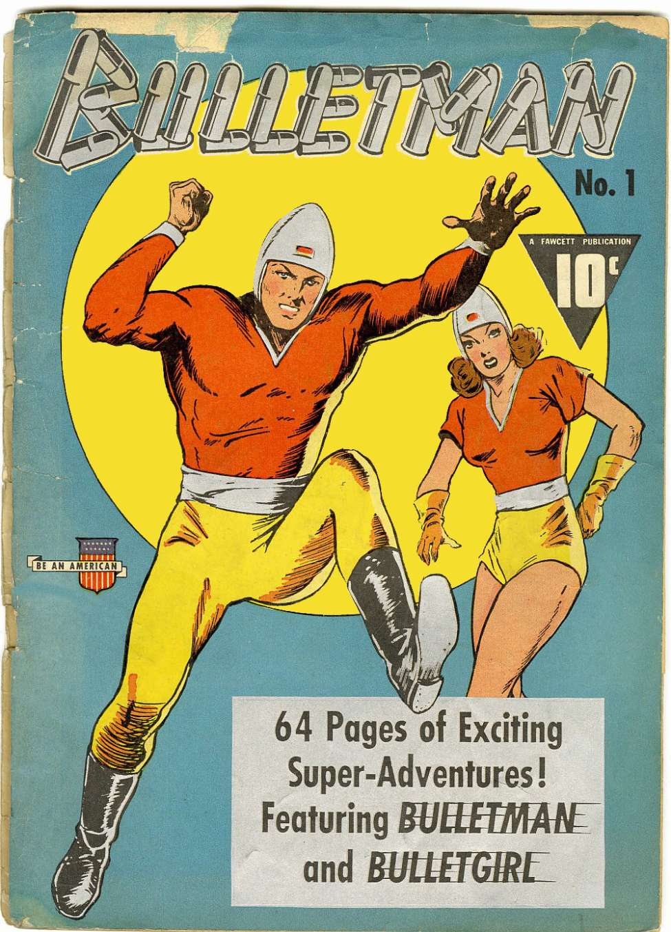 Comic Book Cover For Bulletman #1