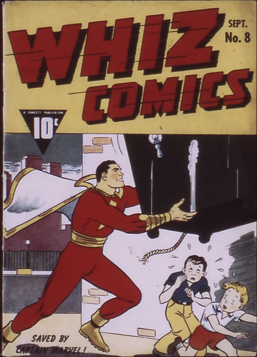 Comic Book Cover For Whiz Comics #8
