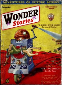 Large Thumbnail For Wonder Stories v3 07 - The Time Stream - serial by John Taine