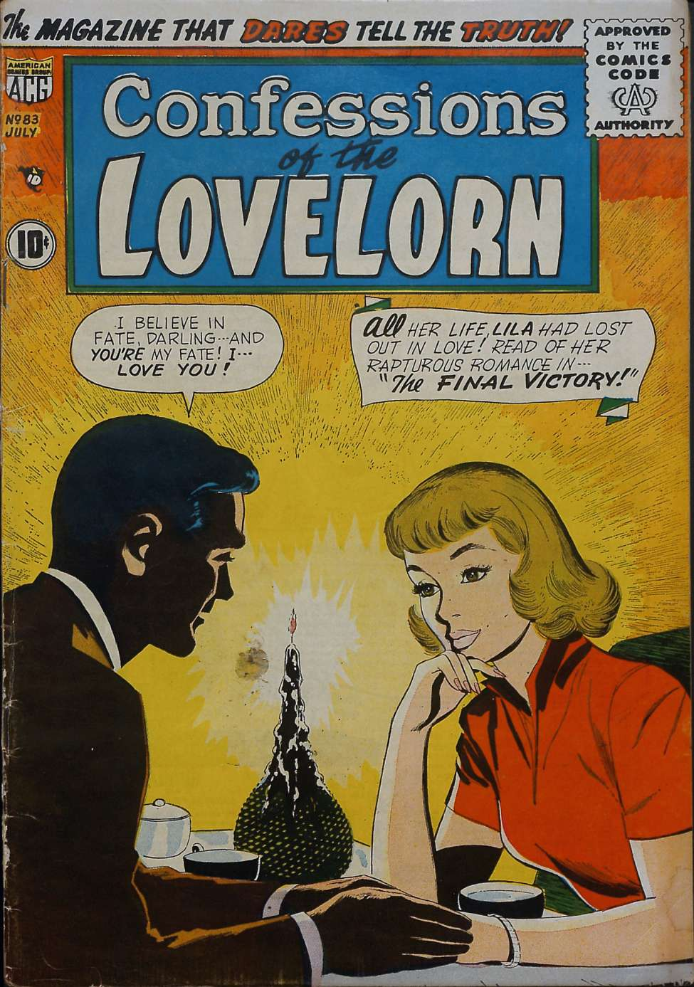 Comic Book Cover For Confessions of the Lovelorn #83