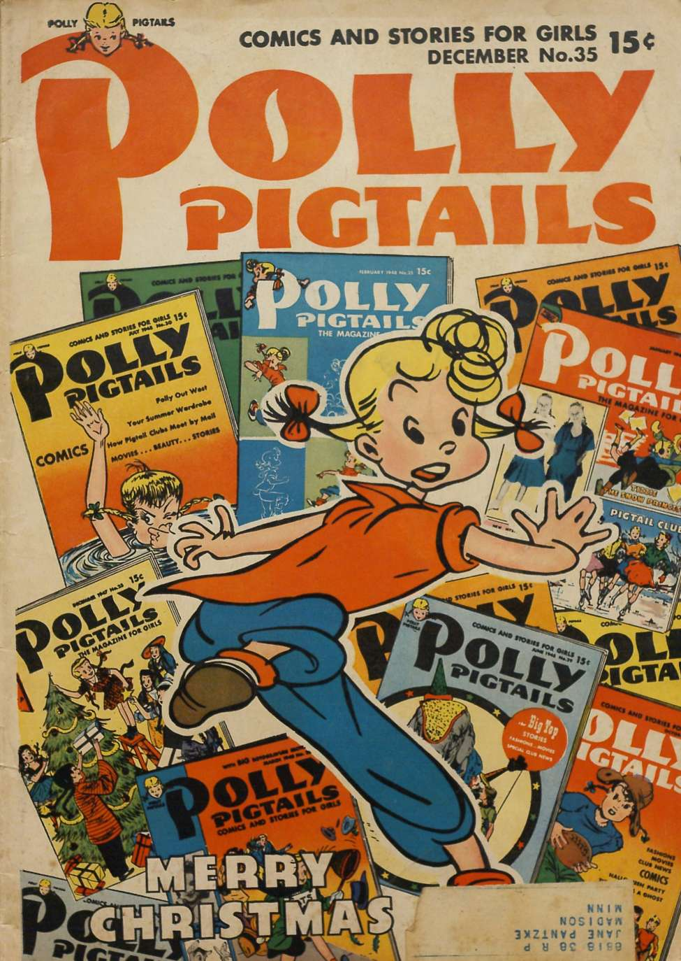 Comic Book Cover For Polly Pigtails #35