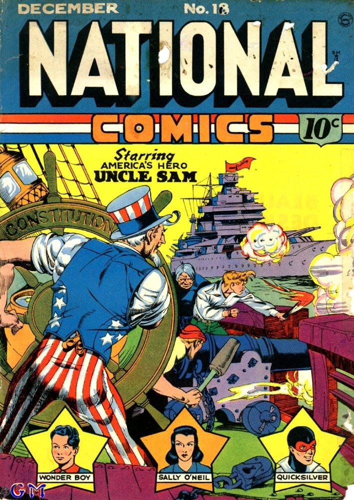 Comic Book Cover For National Comics #18