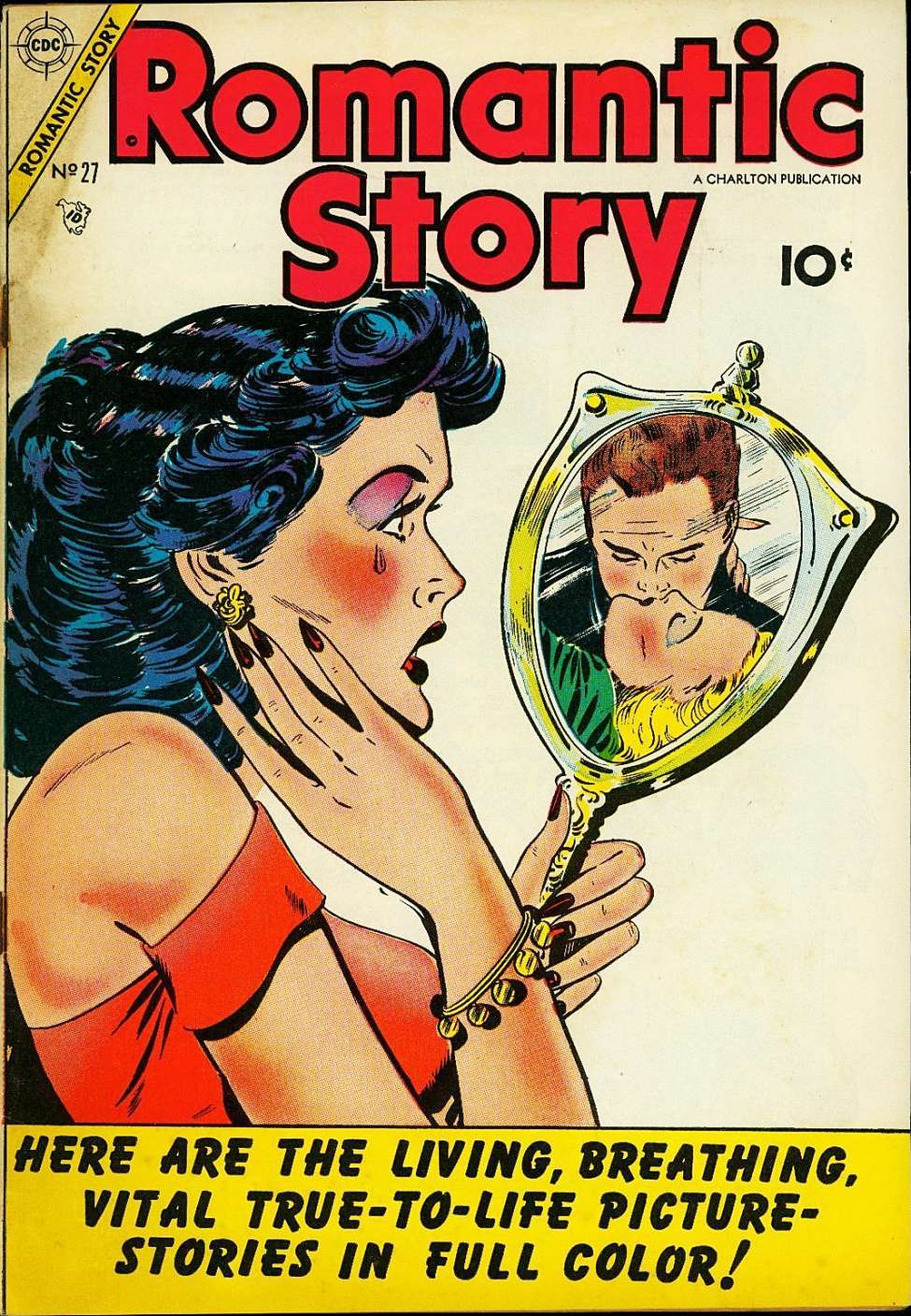 Comic Book Cover For Romantic Story #27
