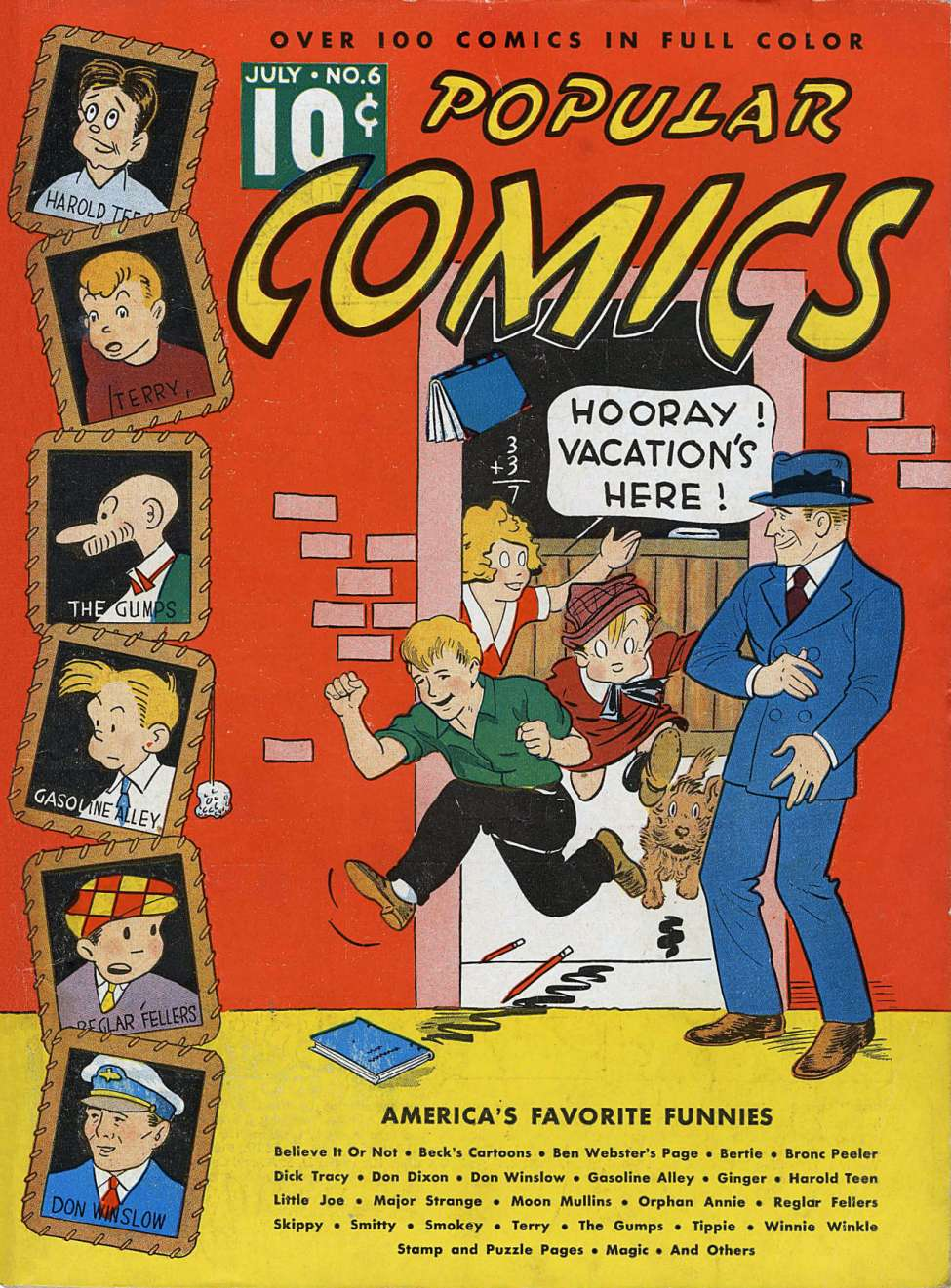Comic Book Cover For Popular Comics #6
