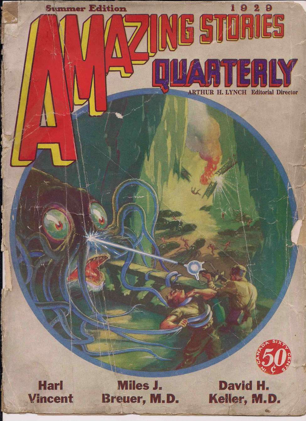 Comic Book Cover For Amazing Stories Quarterly v2 03 - Venus Liberated - Harl Vincent