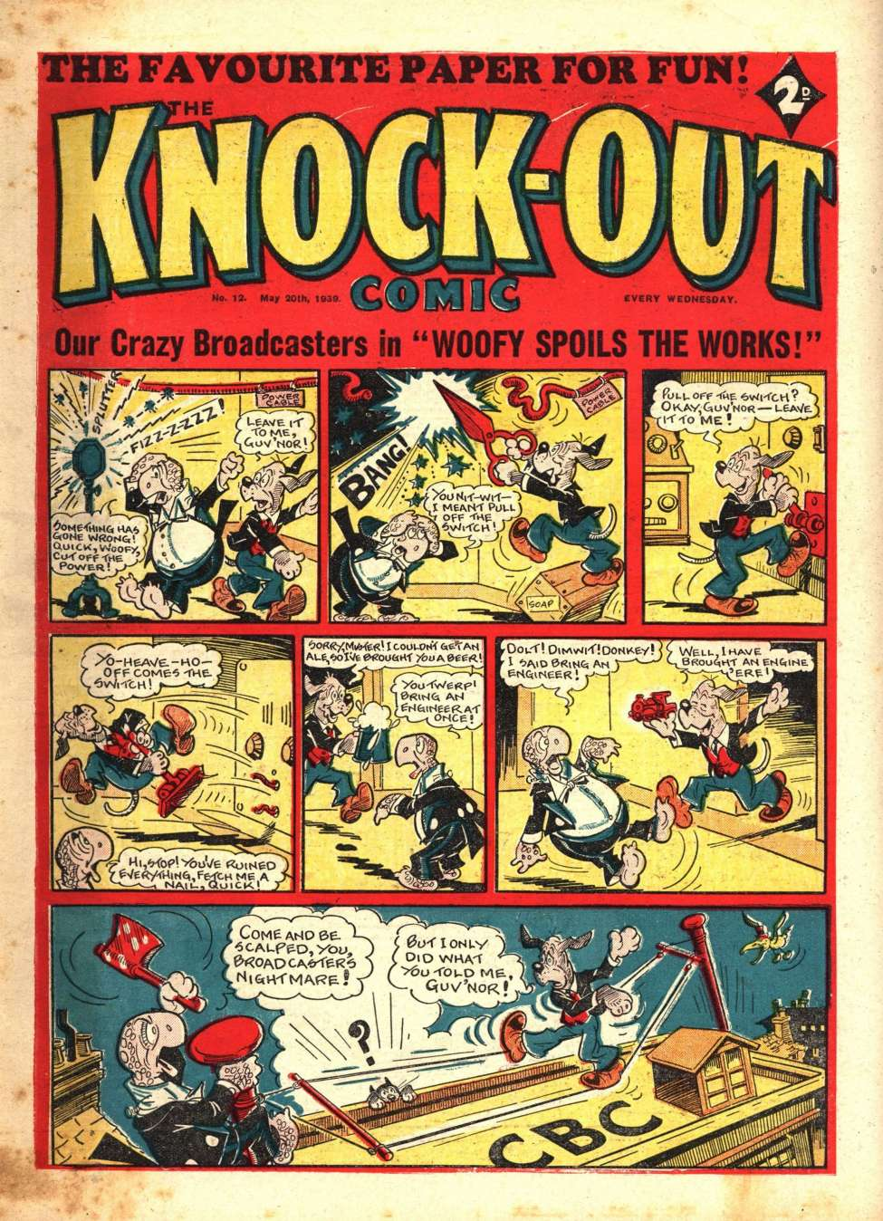 Comic Book Cover For Knockout #12