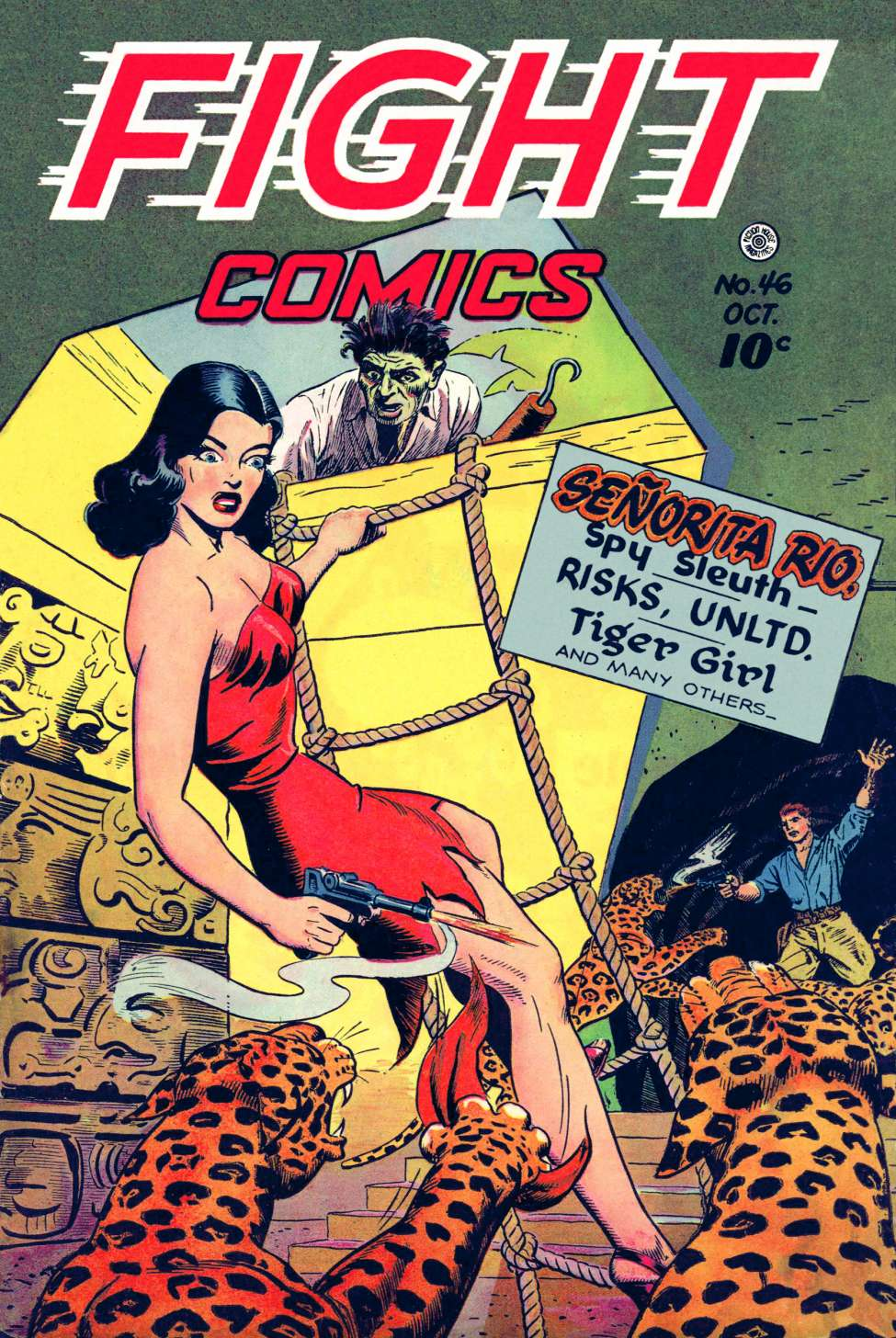 Comic Book Cover For Fight Comics #46