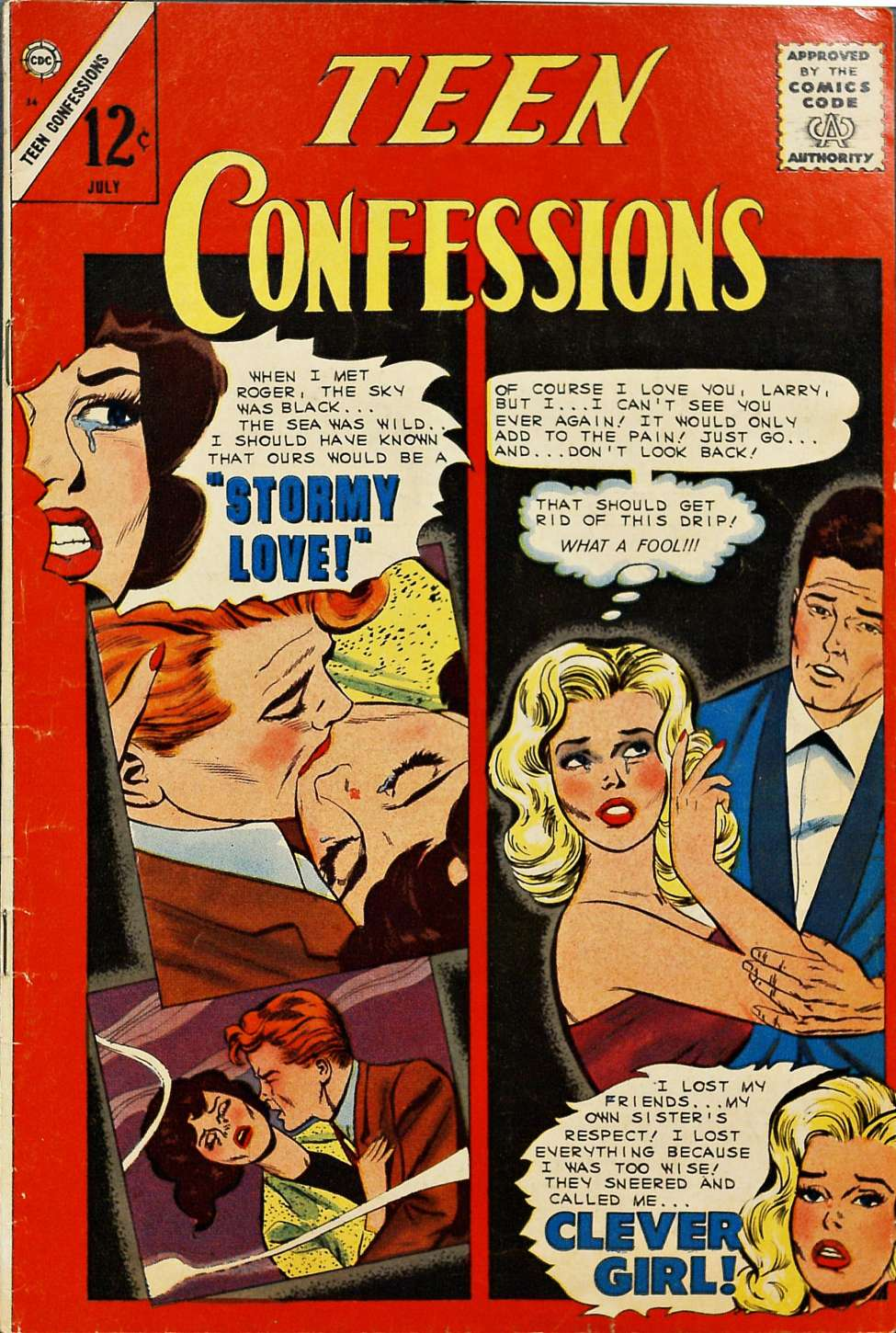 Comic Book Cover For Teen Confessions #34