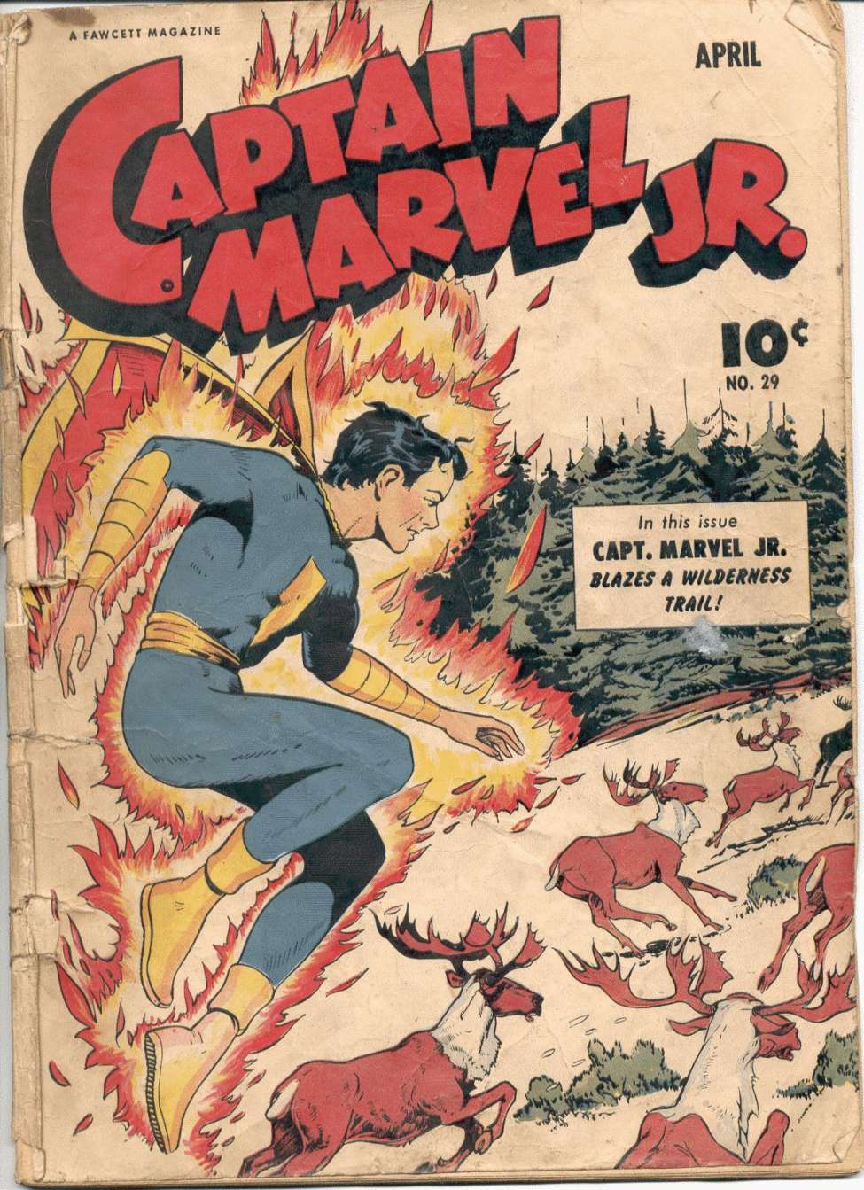Comic Book Cover For Captain Marvel Jr. #29