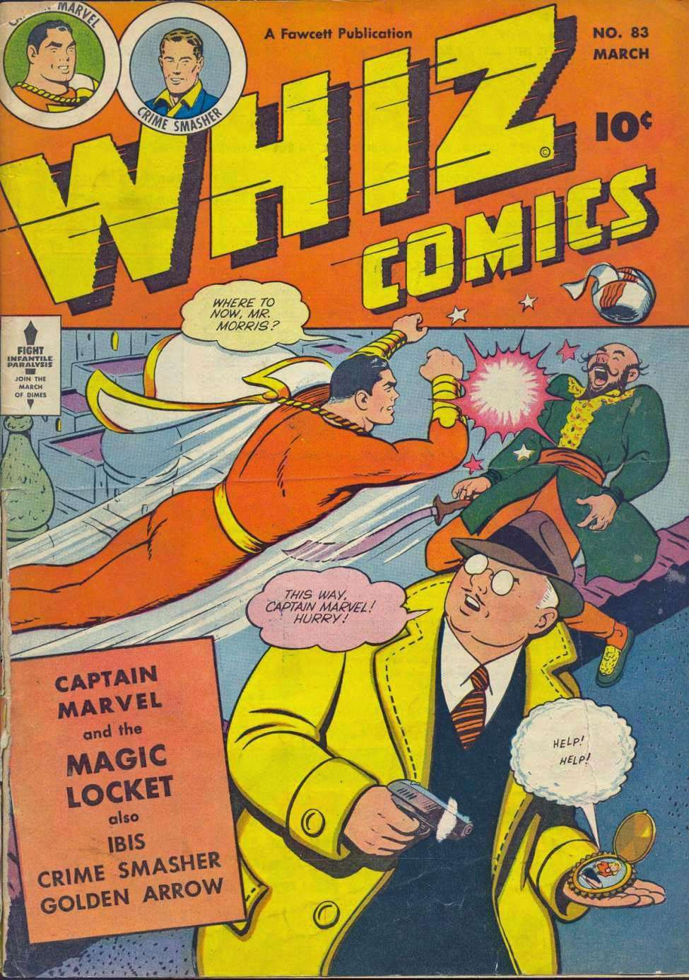 Comic Book Cover For Capt. Marvel Whiz Archives Vol 18